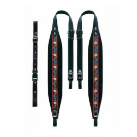 Tyrol carrying straps 7 cm in width, velor black -