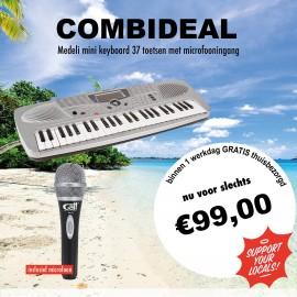 Combideal mini keyboard met microfooningang -