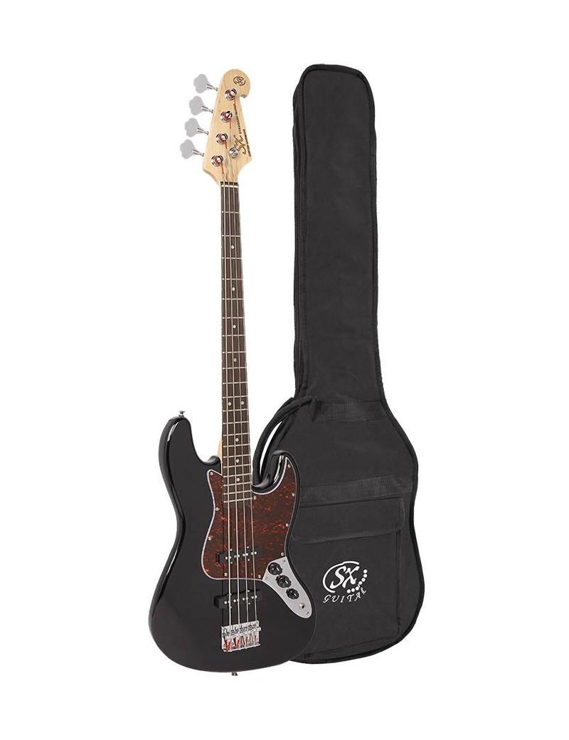 SX J-style elektrische basgitaar met twee elementen -
