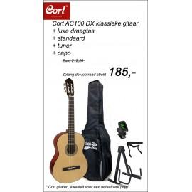 Combi-deal Cort klassieke gitaar -