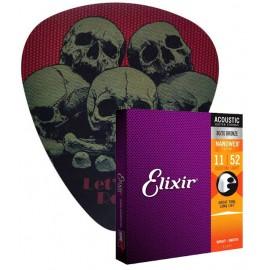 Elixir Acoustic snaren 011 + plectrum muismat -
