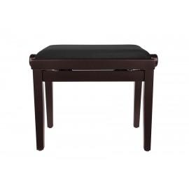 Klavierbank aus Palisander, höhenverstellbarer Sitz. -