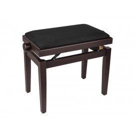 Rosewood piano bench height-adjustable seat. -