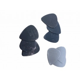 Set plectrums (9 stuks, 0,60 - 0,73 - 0,88 mm) -