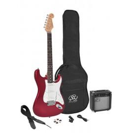 SX elektrisch gitaarpakket rood metallic -