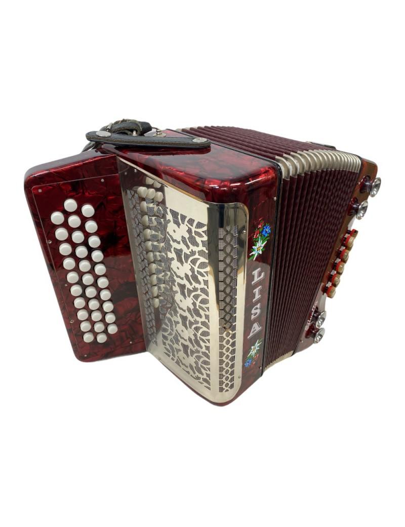 Silvetta 3 rijer steirische harmonica G-C-F (occasion) -