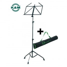 K&M Sturdy music stand incl. Carrying case -