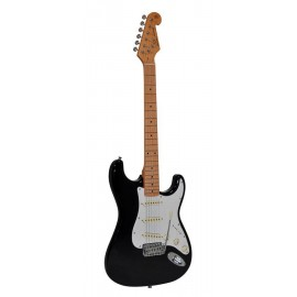 SX electr. guitar SST57-BK incl. Bag -