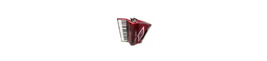 Large collection of new and used accordions with warranty.